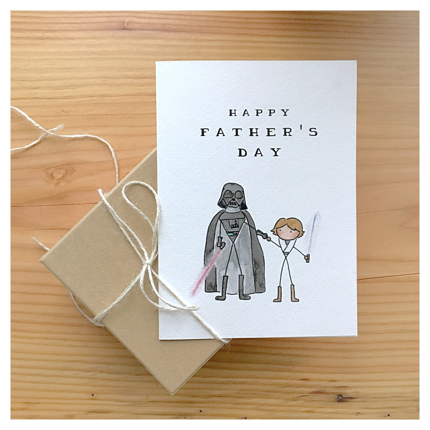 Starwars Fathers Day Card Star Wars Card Darth Vader Luke