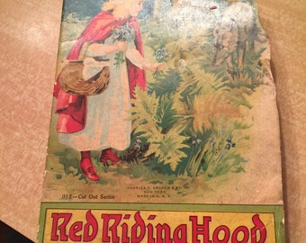 Antique Children's Book - Red Riding Hood