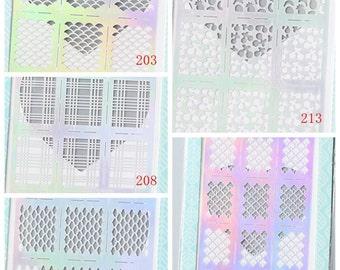 1 Sheet of Nail Vinyl - Nail Sticker - Hologram Film - Patterns