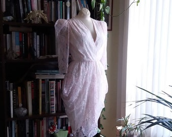 Pretty in Pink Vintage Lace Prom Dress by Glenrob