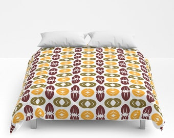 Duvet Cover or Comforter, Twin, Twin XL, Full, Queen, King, Without Inserts, Bedroom, Autumn, Leaves, Abstract, Christmas, Pattern, Gift