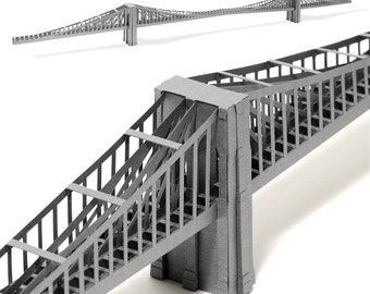 BROOKLYN BRIDGE Assembled Arcitectural Paper Model Gift for Husband