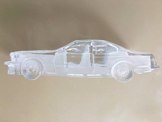 Vintage Glass Car Crystal Car Glass BMW CSI Cristal De Paris Automobile  Glass Car Paperweight Miniature BMW Cristal Veritable Cristal Glass