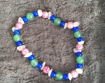 Aventurine and Rose Quartz Bracelet