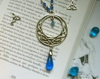 """""""Blue Prism"""" Celtic elven wiccan necklace"""