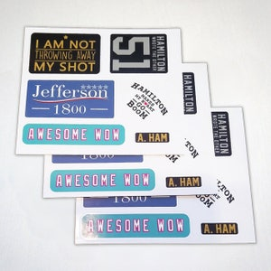 Awesome Wow - A. Ham Stickers - The Other 51 - 3 Pack Sticker Set