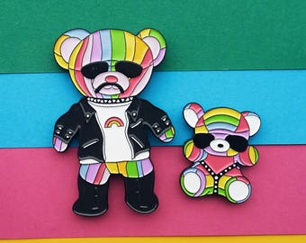 Rainbow Bears - Enamel Pins - RBB, SBB, Harry Styles, Louis Tomlinson, One Direction