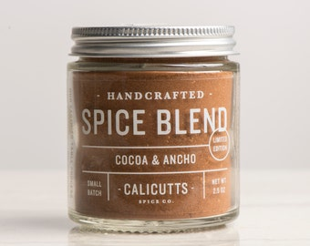 Cocoa & Ancho - Handcrafted Spice Blend - 2.5 ounces in Glass Jar, All-Natural and Gluten Free