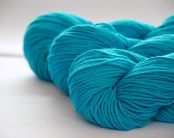 TURQUOISE ~ ARAN Pure natural Cotton yarn ~ co.no 17
