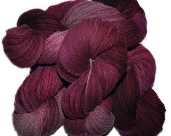 Hand dyed yarn - Columbia Wool yarn, Worsted weight, 170 yards - Lothur