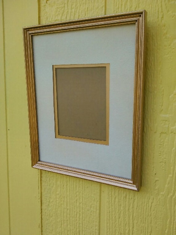 Vintage Gold 8 x 10 Matted Wall Frame For a 4x6 Photo/Wooden Matted ...