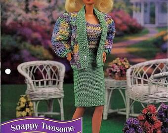 Snappy Twosome Crochet Pattern Annies Fashion Doll Crochet Club FCC03-01