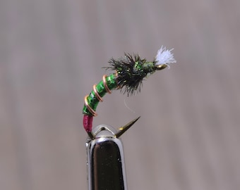 Custom Flies, The Illuminator, BC Trout Flies, Fly Fishing, Fishing Lure, Hand Tied Flies, Fishing Gift, Chironomid Trout Fly, Fly Tying