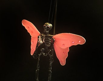Dark Dead Creepy Skeleton Fairy