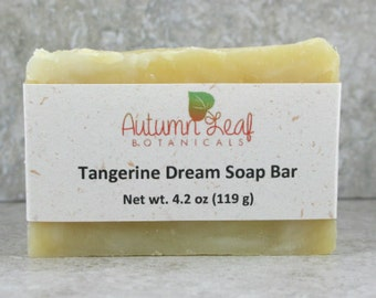 Tangerine dream soap bar, Vegan soap, hot process soap, citrus soap, artisan soap