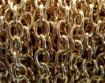 Gold Plated 6.3mm Drawn Cable Chain - 3 feet