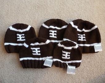 Knitted Football Hat