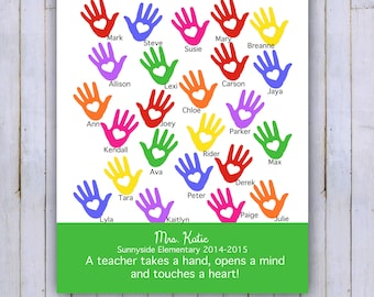 Personalized Class Names, Teacher Appreciation, Class Gift, End of year, Teacher Gift, Personalized, 8x10