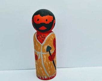 Esau wood peg doll