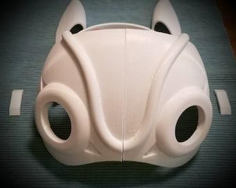 DIY half mask inspired by Hayao Miyazaki's princess mononoke