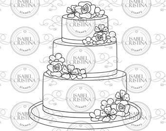 Fancy cake - Isabel Cristina Stamps
