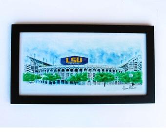 LSU Art Print - LSU wall art - wall decor - lsu decor 10x20 - lsu gift
