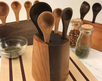 Measuring Spoons Set with Counter Top Block