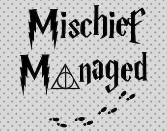 Harry Potter svg, Mischief Managed svg, Mischief Managed, Baby svg, Cute svg, Harry Potter cricut, Mischief cricut