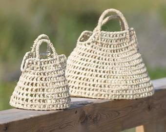 LANZAROTE Straw BASKET BAG,  Knitted Palm Basket Bag, Kid Basket, Straw Basket, Cestino, home decoration, Cesta, Basket bag