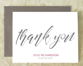 Personalized Thank You Cards - Graduation Thank You Cards - School Colors - set of 10+