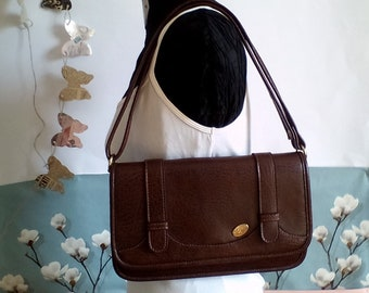 vintage bag / small bellows bag / 70s bag