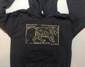 Ursa Major hoodie, constellation, celestial clothing, black pullover hoodie, 1AEON ursa major unisex Hoodie, S-XXXL