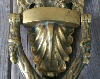 Merveilleux Vintage Brass Eagle Door Knocker