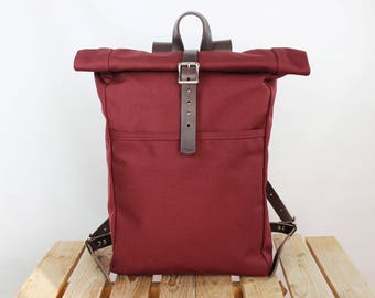 Canvas backpack Rolltop backpack Leather backpack Canvas rucksack Laptop backpack Canvas leather backpack Canvas Daypack Roll top backpack