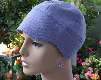 Womens Chemo Hat Soft Cancer Cap Alopecia Hat Reversible  Small/Medium