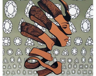 Rind Beauty - M.C. Escher - ART PRINT - 8 x 10 - By Mixed Media Artist Malinda Prudhomme