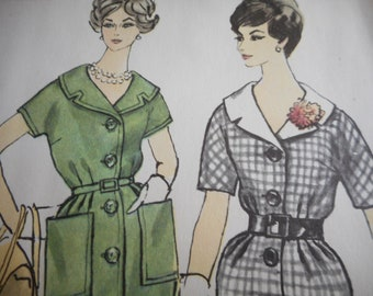 Vintage 1960's Simplicity 3407 Dress and Tunic Dress Sewing Pattern Size 16 Bust 36