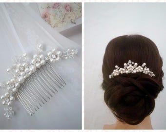 Bridal Hair Comb Silver Bridal Hair Vine, Wedding Hair Comb Bridal Hairpiece, Hair Accessories Crystal Hair Comb, Bridal Comb Hair Piece LEA