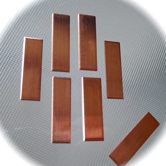 """30 - 1/2 x 2"""" Unfinished Raw Copper - 18 Gauge Thickness"""