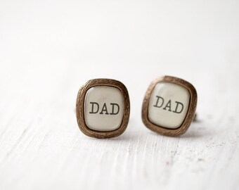 Dad cufflinks, father of the bride cuff links, Rustic wedding cufflinks, Dad of the bride cuff links, Rustic cufflinks, father cufflinks