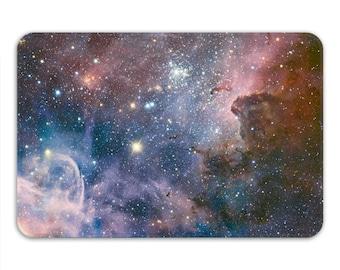 Galaxy Bath Mat, Space Bath Mat, Memory Foam Bath Mat, Carina Nebula, Cosmos Bathroom Mat 24 x 17, Space Decor, Galaxy Print, Printed in USA