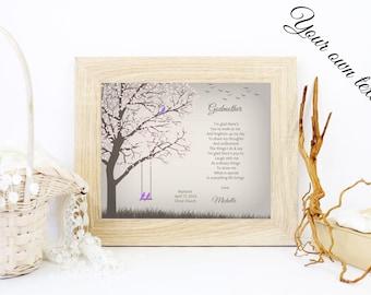 Personalized Godmother Gift   Godmother Poem   Gift From Godchild To Godmother   Baptism Thank You Gift - 48277