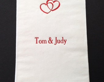 Dinner Napkin, Hand Towel, Party Napkin, Engagement Party, Rehearsal Dinner, Anniversary Party, Party Accessory, Hostess Gift, Event Napkin