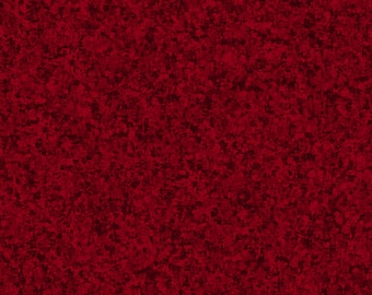 Garnet Red Solid Textured Fabric - Quilting Treasures QT Basics Color Blend - 23528 MJ - Priced by the 1/2 yard