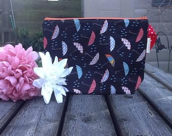 Medium 2 skein Project Bag.  Umbrellas