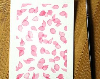 Pink Petals, Floral Art, Floral Painting, Floral Watercolour, Pink Watercolour, Original Painting, Original Art, Home Decor Wall Art