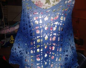 Sea blue poncho