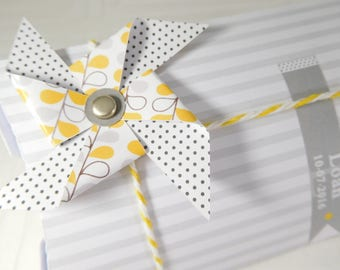 Customizable Dragée box - pillow box with windmill for baptism, marriage, birth