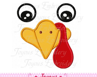 Instant Download  Thanksgiving Turkey Face 01 Applique Embroidery Design NO:1590