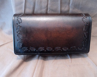 Ladies' Clutch with Leaf Stamp